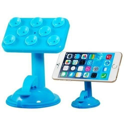 Mobile Stand Rotatable Mobile Phone Multi Function Placing Plate(Blue)