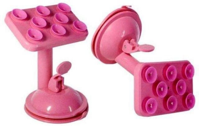 Mobile Stand Rotatable Mobile Phone Multi Function Placing Plate (Pink)