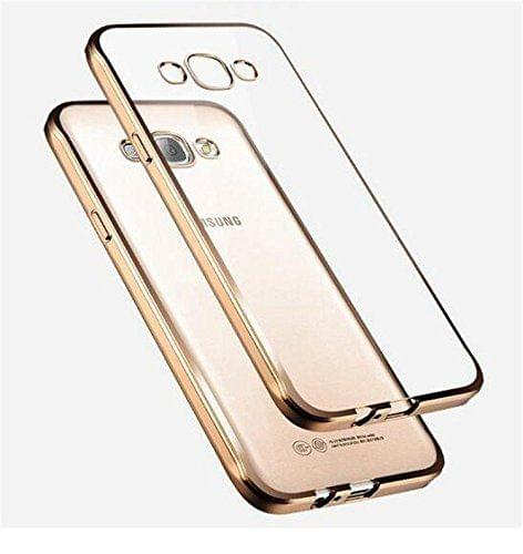Samsung J2-2016 Silicon Transparent Back Cover Gold Golden