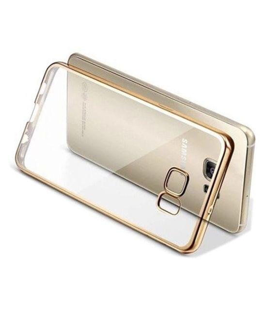 Samsung J7-2016 Silicon Transparent Back Cover Gold Golden