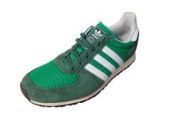 Adidas Women White Green Mesh Sports Shoes