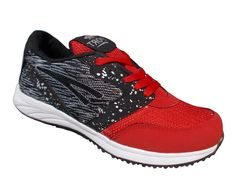 Port Men's Boost Red Black Mesh Running Sports Shoes