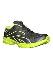 Port Men's Parakeet Black & Green PU Sports Shoes
