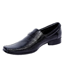 Valentino Men's Black Leather Formal Shoes