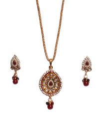Port Gold Plated Antique Design Necklace For Women