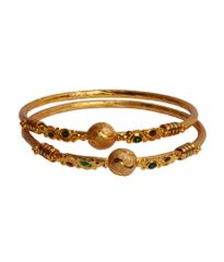 Port Exclusive Gold Plated Bangle Pair