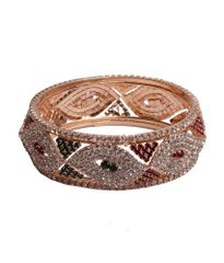 Port Exclusive Gold Plated Multicolored American diamonds Studded Bangle