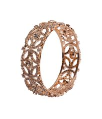 Port Exclusive Gold Plated American diamonds Studded Bangle