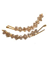 Port Exclusive Gold Plated American Diamonds Studded Party Hair Pin