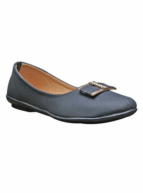 Port  Black Casual Ballerinas For Women's
