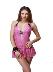 Port Exclusive Pink Baby Doll  Night Wear For Women's