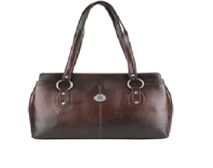Port Exclusive BrownLeather Shoulder Bag