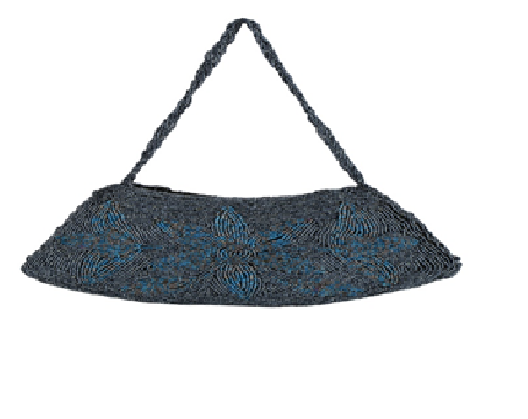 Port Exclusive Blue Embroidery Clutch