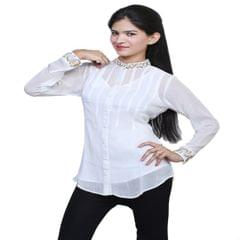 Port Exclusive White Women's Casual Top