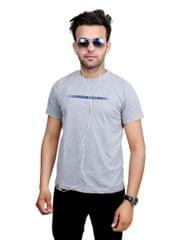 Neva Casual Grey Round Neck T-Shirts For Men's