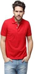 Neva Casual Red Polo T-shirts For Men's