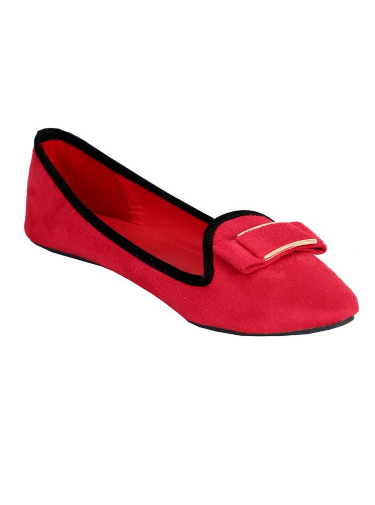 Port  Red Ballerinas For Women's