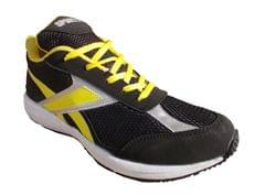 Port Warbler Black Yellow Pu Running Shoes For Men's