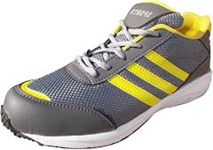 Port Unisex Yellow DownForce Mesh Runing Shoes