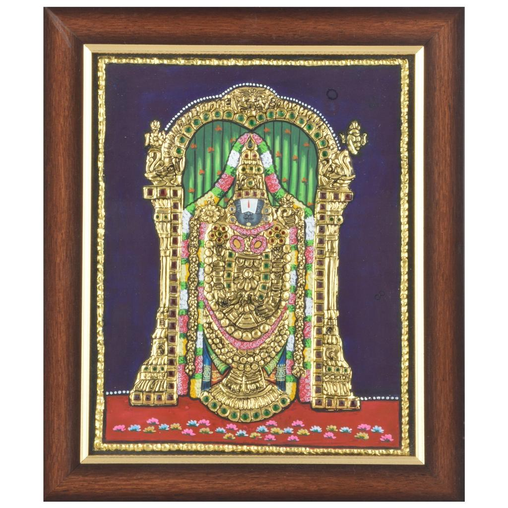 Mangala Art Balaji Tanjore Paintings, Size:18x14inches, Color:Multi