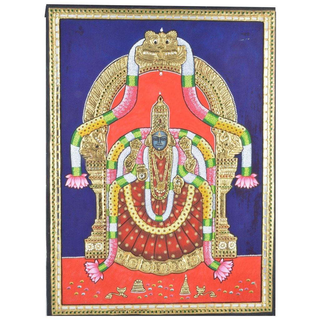 Mangala Art Thayar Tanjore Paintings Without Frame, Size:18x24 inches, Color:Multi