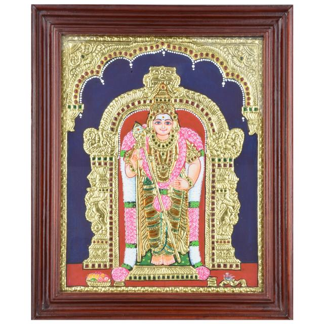 Mangala Art Murugan Tanjore Paintings, Size:17x14 inches, Color:Multi