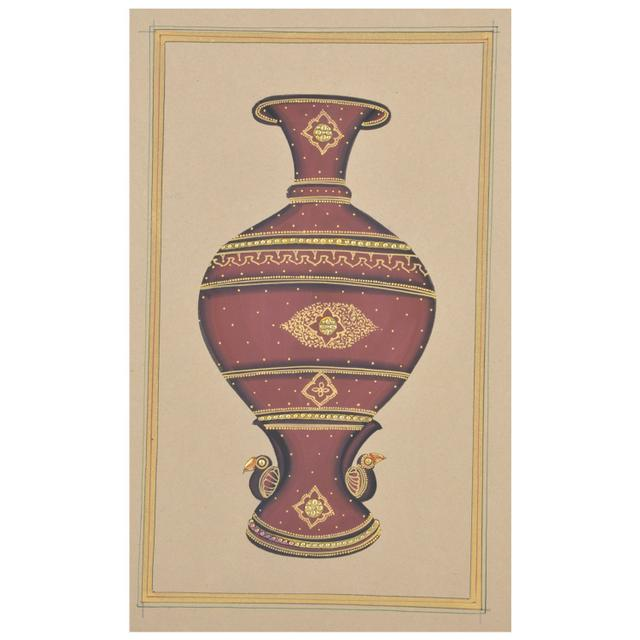 Mangala Art Jaadi Paper Gold Paint Tanjore Artwork Without Frame, Size:7x11 inches, Color:Multi