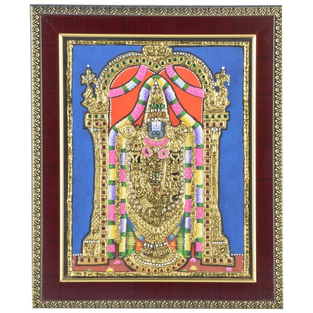 Mangala Art Balaji Tanjore Paintings, Size:8x10 inches, Color:Multi