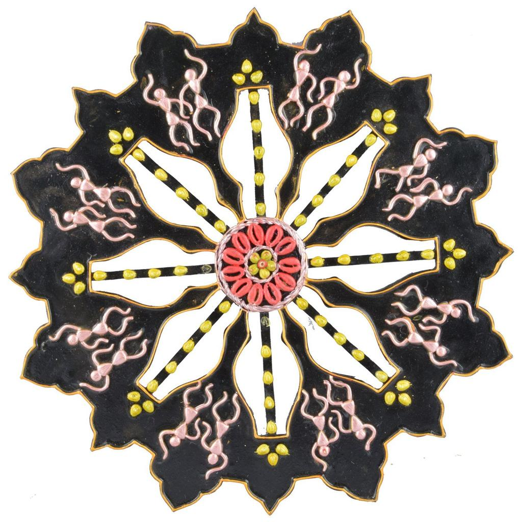 Mangala Art Warli Wheel Work (1 Feet Diameter)