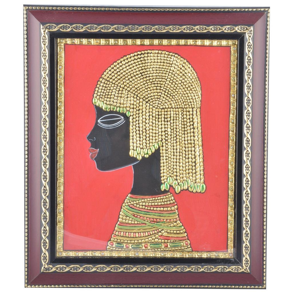 "Mangala Art Roman Figures Indian Traditional Tamil Nadu Culture Tanjore Painting - 35x41cms (14""x16"")"