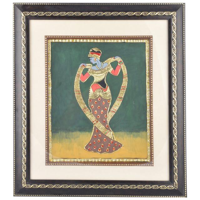"Mangala Art Roman Figures Tanjore Paintings with double frame Wall Decor 35x41cms (14""x16"")"
