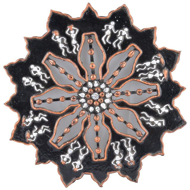 Mangala Art Warli Wheel Work, Size:1 Feet Diameter, Color:Multi