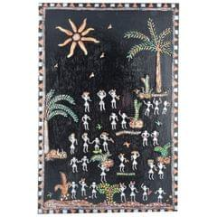 Mangala Art Warli Artwork Wall Hanging, Size:12x6 inch, Color:Multi