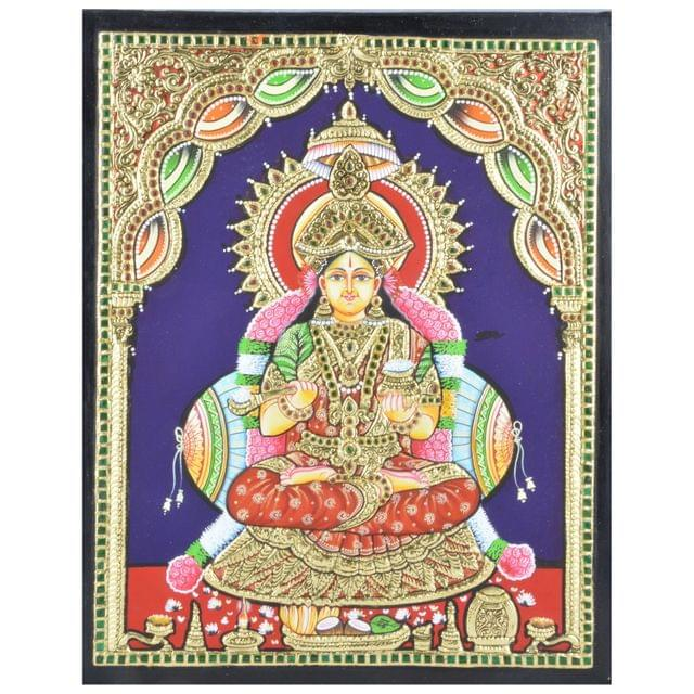 Mangala Art Annapoorni Tanjore Paintings Without Frame, Size:15x12 inches, Color:Multi
