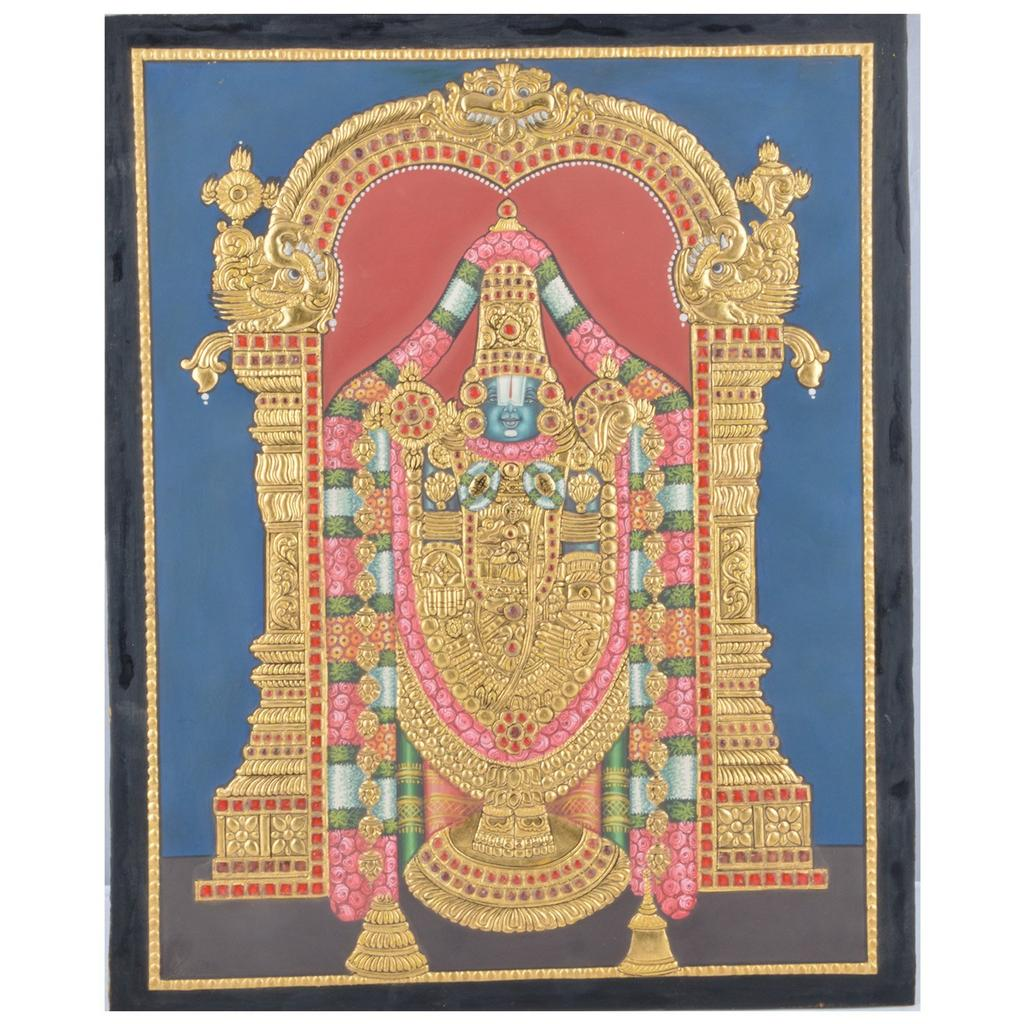 Mangala Art Balaji Tanjore Paintings Without Frame, Size:15x12 inches, Color:Multi