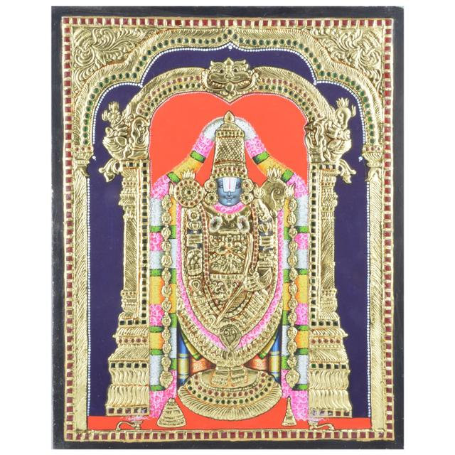 Mangala Art Balaji Tanjore Paintings Without Frame, Size:18x14 inches, Color:Multi