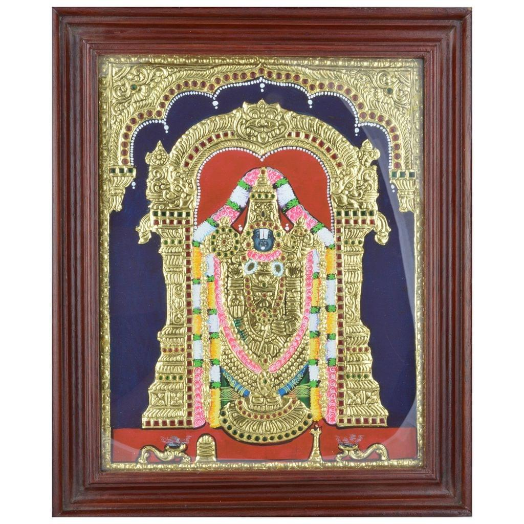 Mangala Art Balaji Tanjore Paintings, Size:17x14 inches, Color:Multi