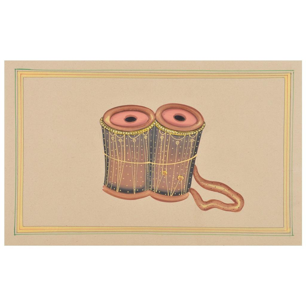 Mangala Art Mathalam Paper Gold Paint Tanjore Artwork Without Frame, Size:7x11 inches, Color:Multi