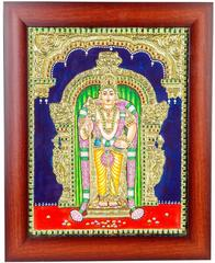 Mangala Art Murugan Tanjore Paintings, Size:15x12 inches, Color:Multi
