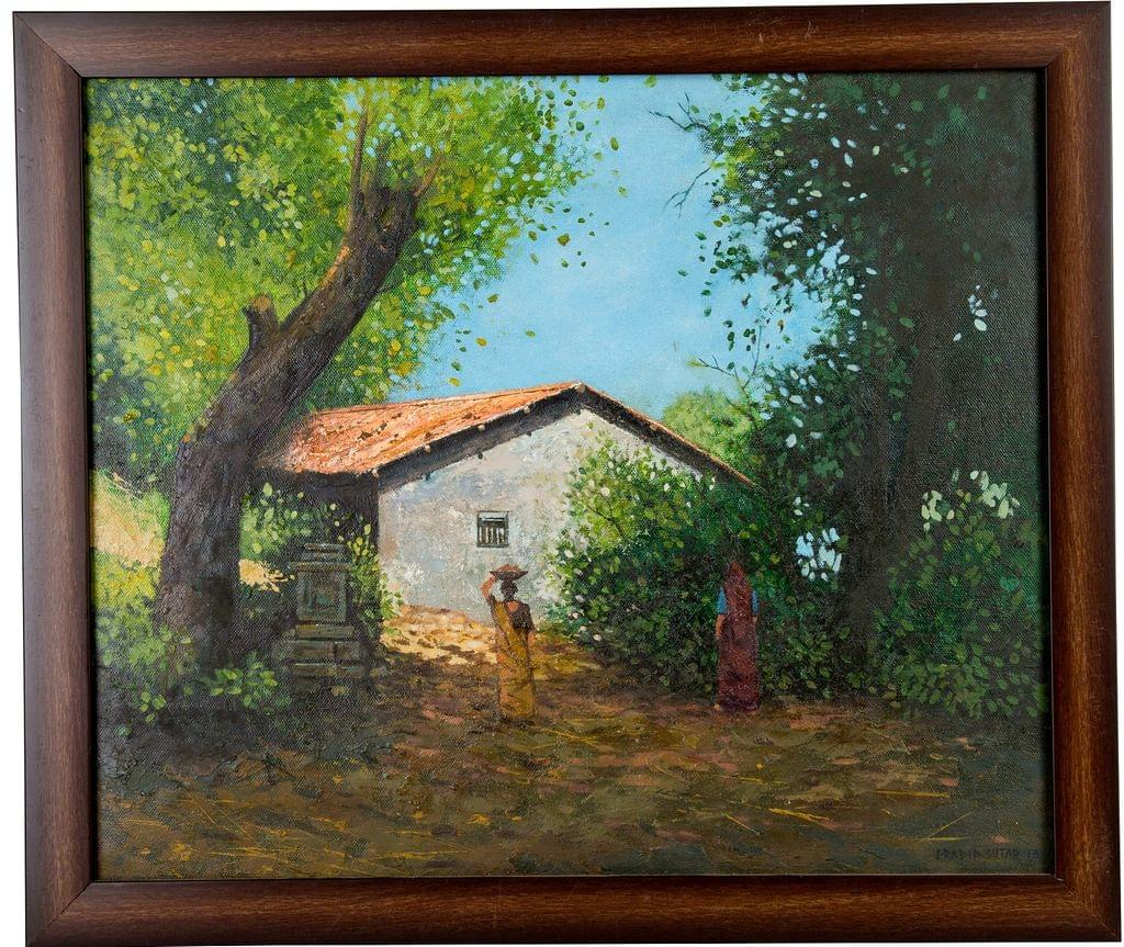 Mangala Art House Canvas Oil Paintings, Size:18x15, Colour:Multi