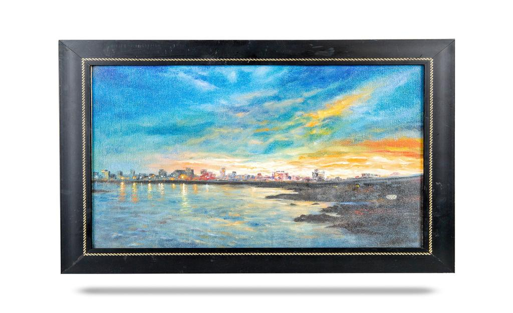 Mangala Art Scenery Canvas Oil Paintings, Size:9x13, Colour:Multi