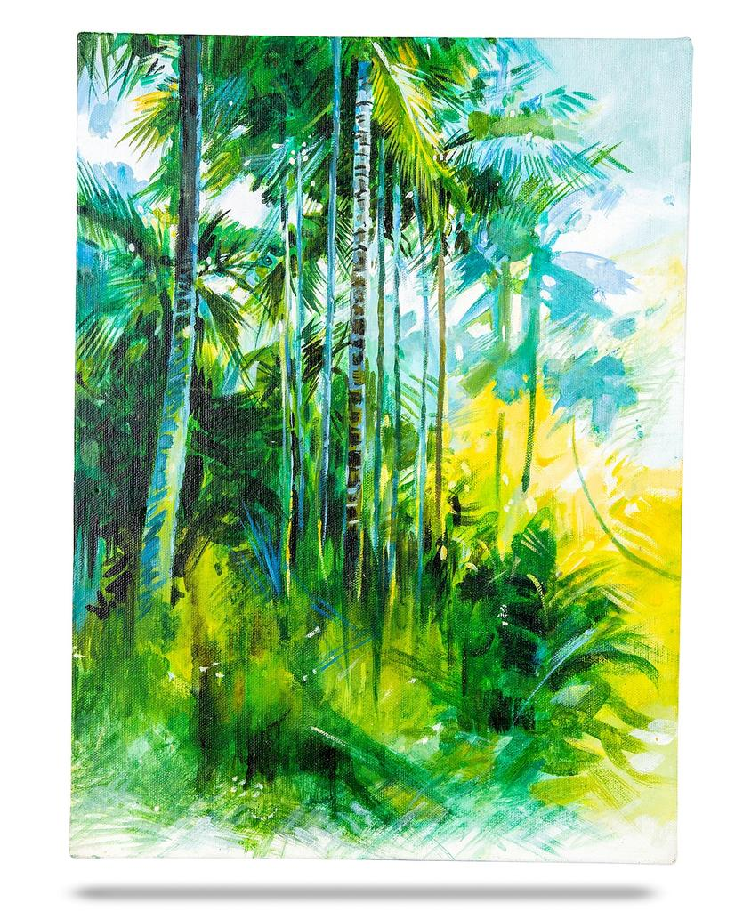 Mangala Art Scenery Canvas Oil Paintings, Size:16x12, Colour:Multi