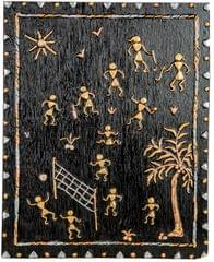Mangala Art Warli Artwork Wall Hanging, Size:15x12inches, Color:Multi