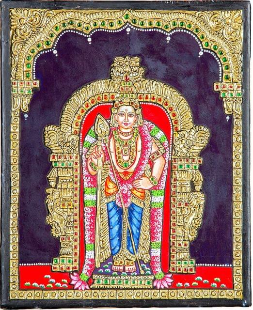 Mangala Art Murugan � Fx Tanjore Paintings, Size:10x12inches, Color:Multi