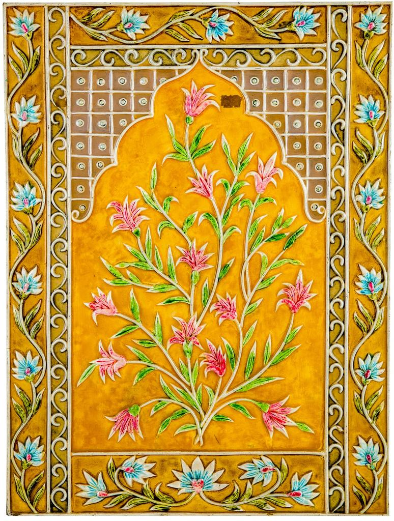 """Mangala Art Plant Mural Work Wall Decor Canvas Oil Painting Without Frame - 60x46cms (24""""x18"""")"""