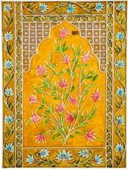 Mangala Art Plant Mural Work Without Frame, Size:24x18, Color:Multi