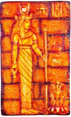 Mangala Art Egyption Lady Mural Work Without Frame, Size:12x20, Color:Multi