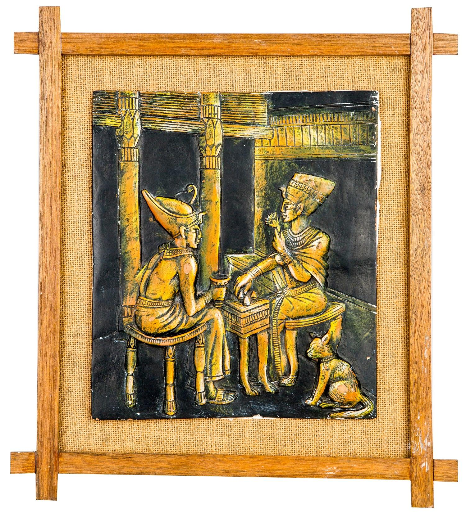 Mangala Art Egyption Jute Mural Work, Size:11x12, Color:Multi