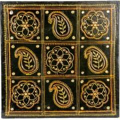 Mangala Art Mahindhi Warli Gurjari Art Work, Size:18x18 inch, Color:Multi