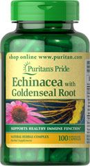 ECHINACEA WITH GOLDENSEAL ROOT 450 MG / 100 CAPSULES / ITEM #000922